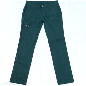 REI cargo pocket teal straight leg pants, 10